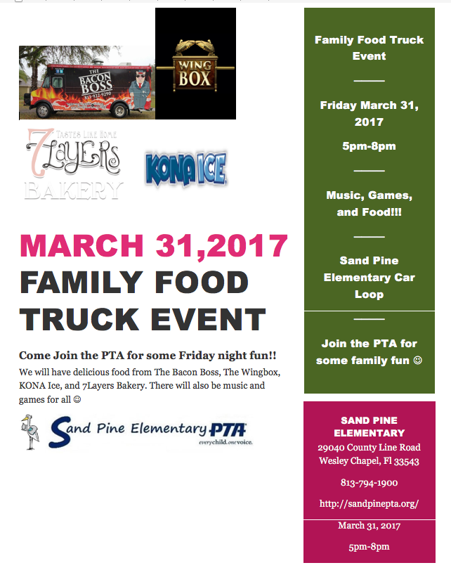 Family Food Truck Event!