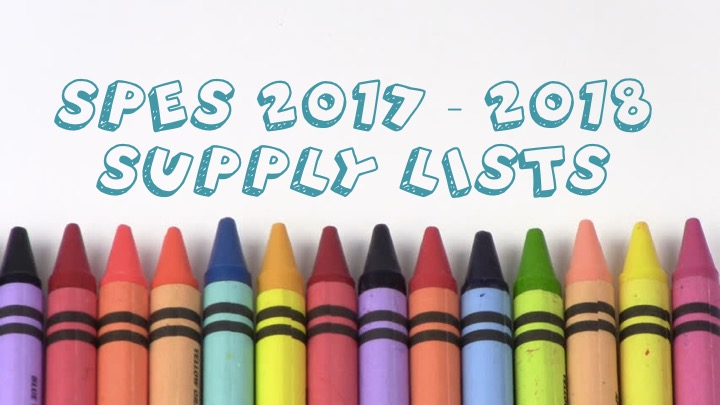 School Supply Lists Available