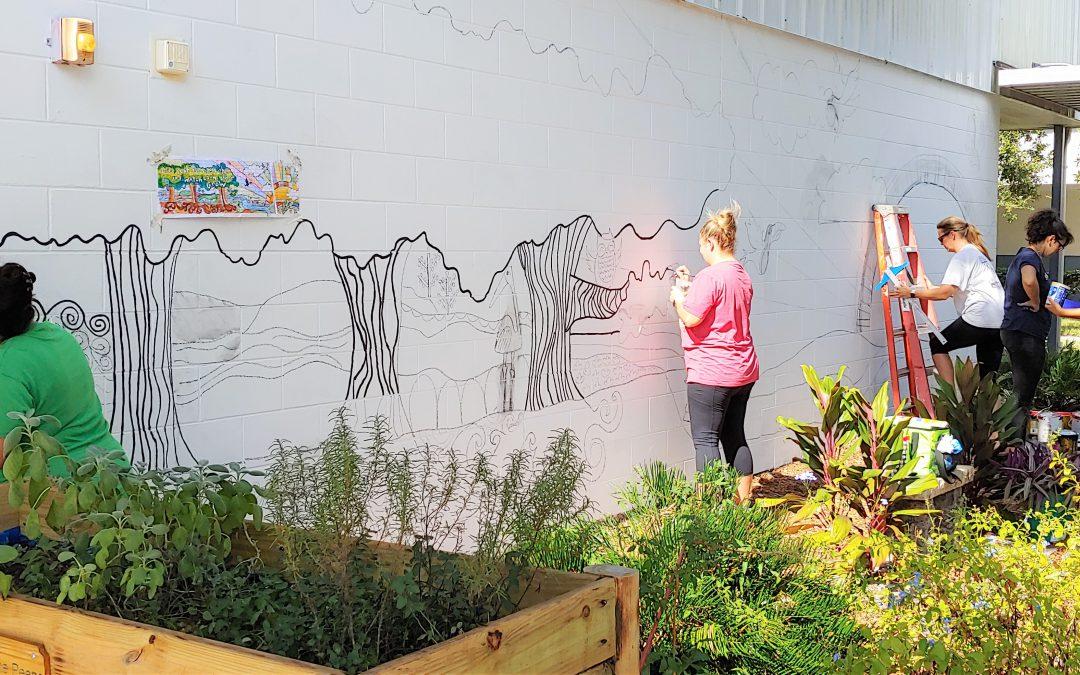 Butterfly Garden Mural