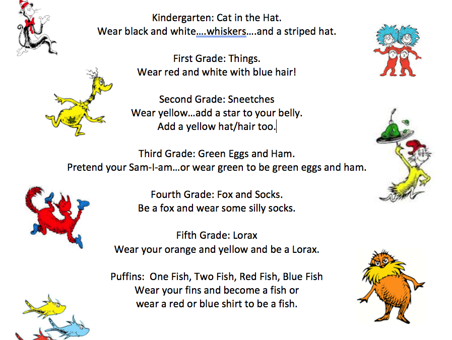 Read Across America – Dr. Seuss Day March 2nd